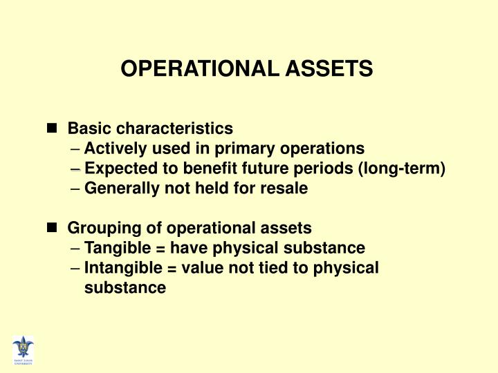OPERATIONAL ASSETS