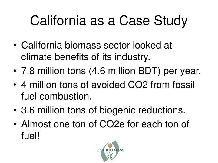 California as a Case Study