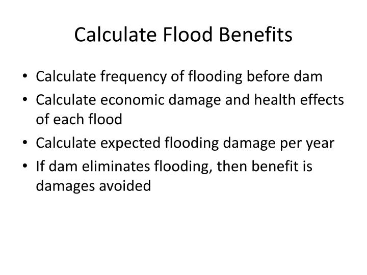 Calculate Flood Benefits