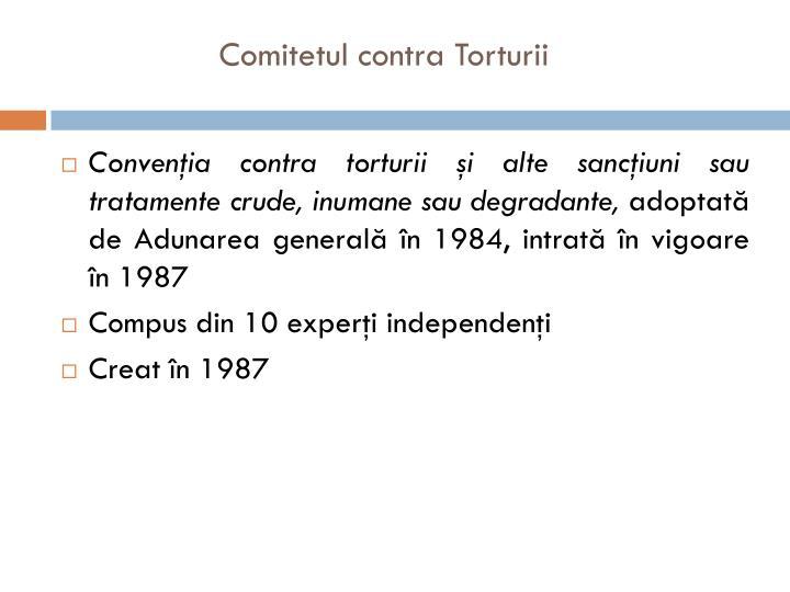 Comitetul contra Torturii