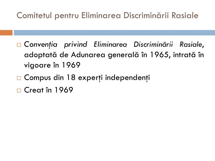 Comitetul pentru Eliminarea Discriminării Rasiale