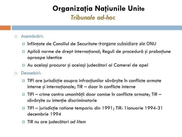 Organizaţia Naţiunile Uni