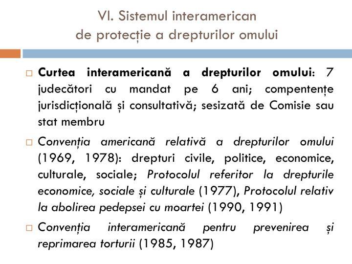 VI. Sistemul interamerican