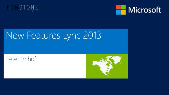 new features lync 2013