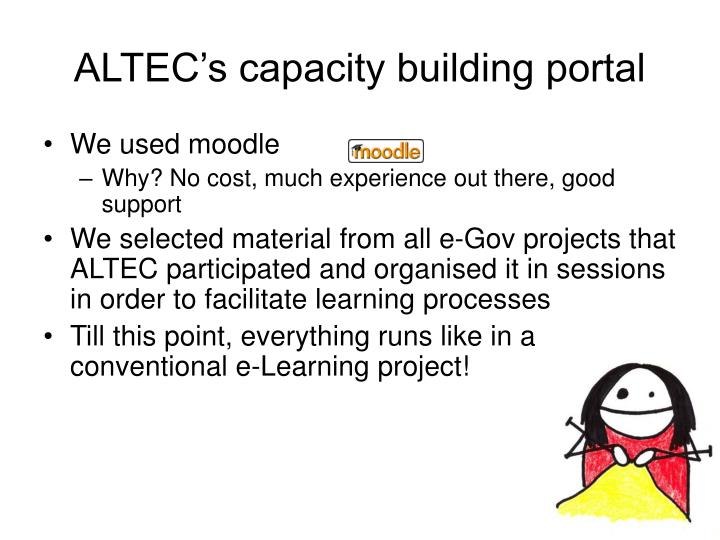 ALTEC's capacity building portal