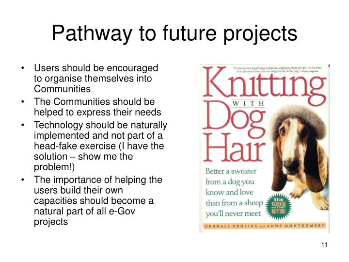 Pathway to future projects