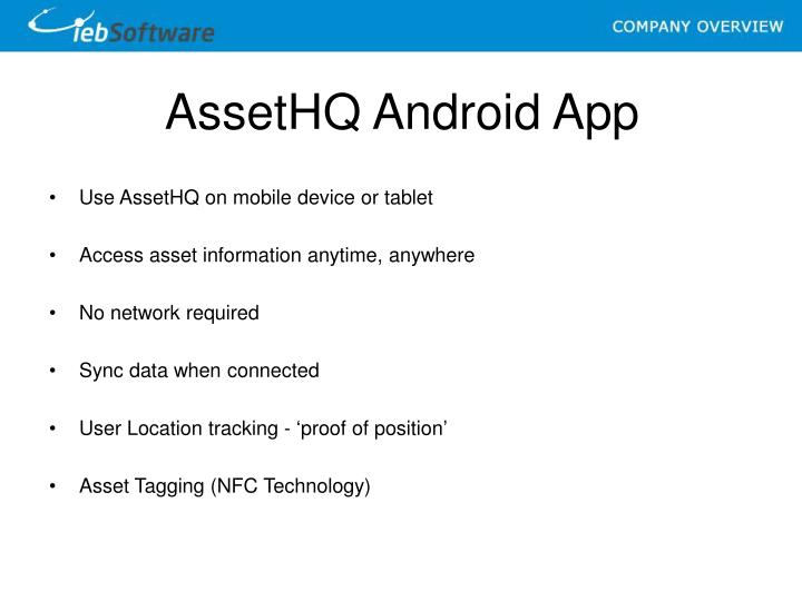 AssetHQ Android App