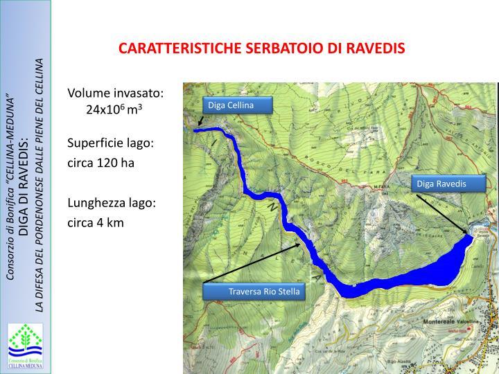 CARATTERISTICHE SERBATOIO DI RAVEDIS