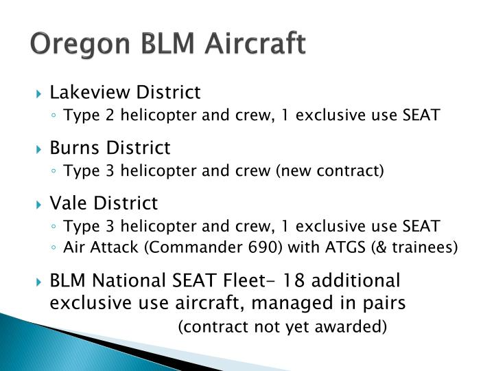 Oregon BLM Aircraft