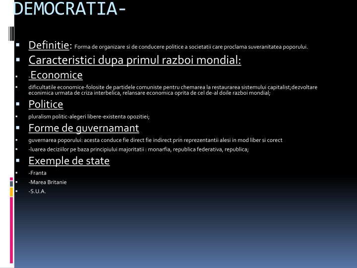 DEMOCRATIA-