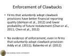 enforcement of clawbacks
