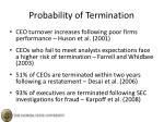 probability of termination