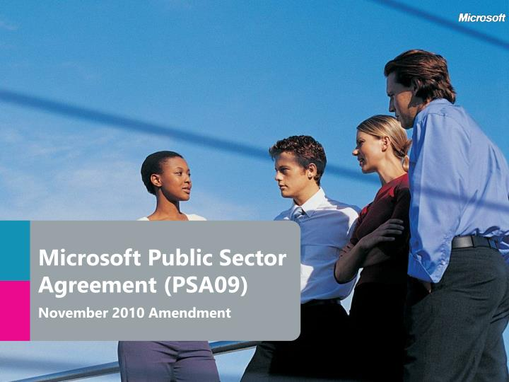 Microsoft public sector agreement psa09 november 2010 amendment