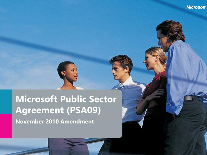 Microsoft Public Sector Agreement (PSA09)