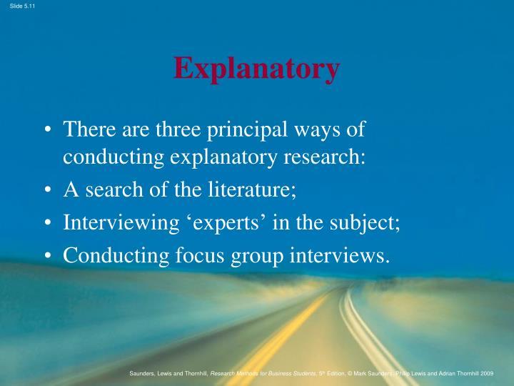 Explanatory