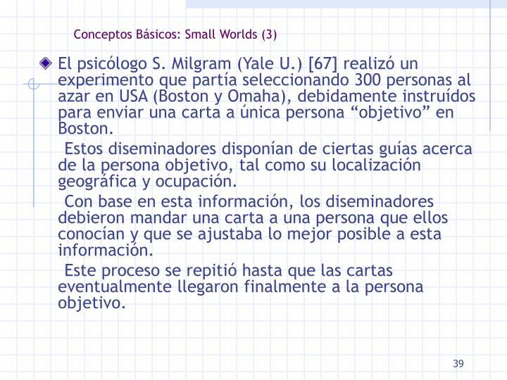 Conceptos Básicos: Small Worlds (3)