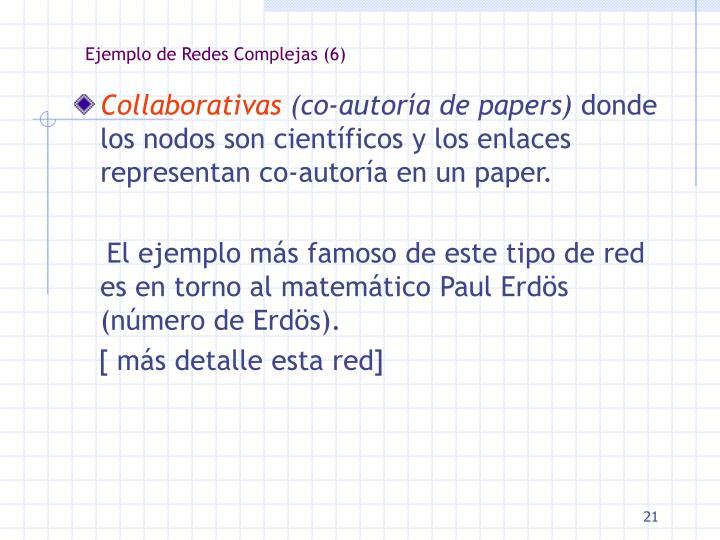Ejemplo de Redes Complejas (6)