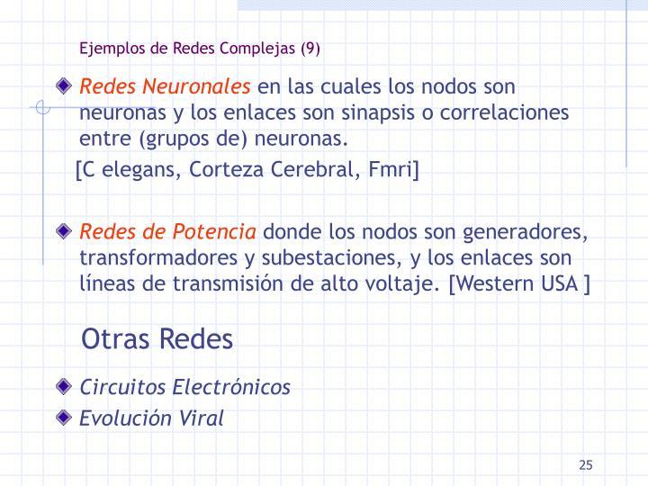 Ejemplos de Redes Complejas (9)