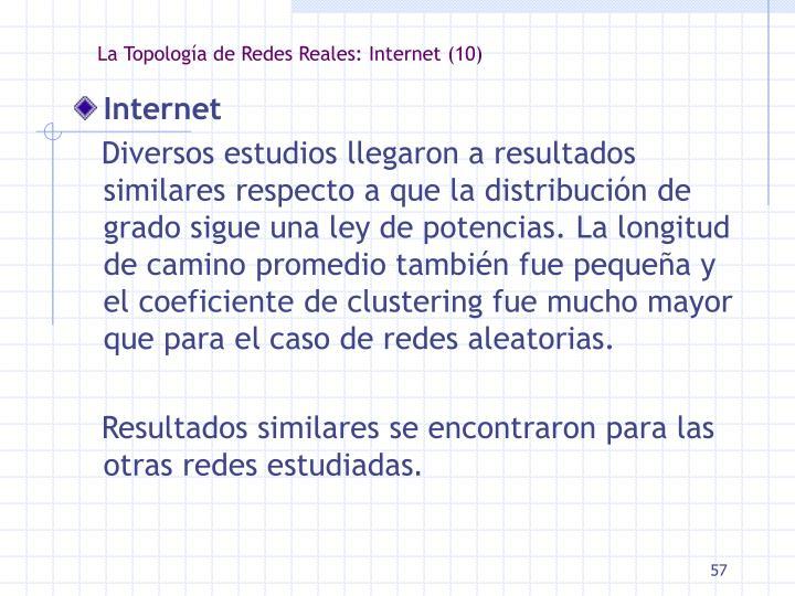 La Topología de Redes Reales: Internet (10)