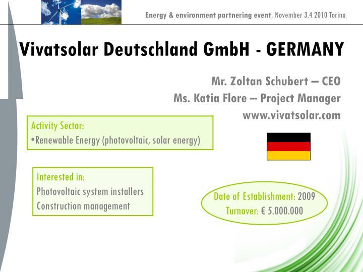 Vivatsolar Deutschland GmbH