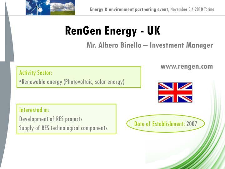 RenGen Energy