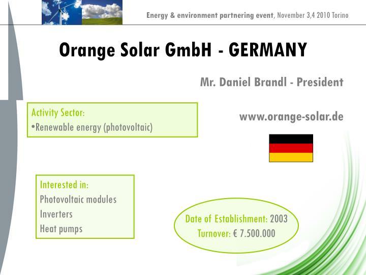 Orange Solar GmbH