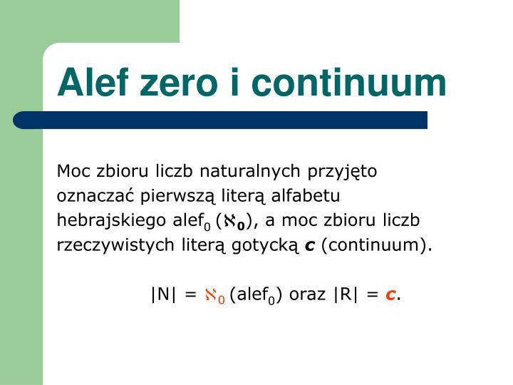 Alef zero i continuum