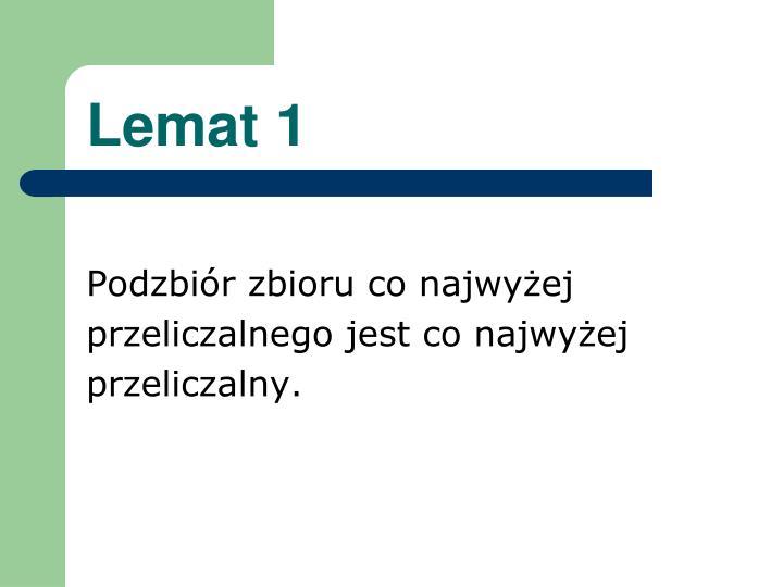 Lemat 1
