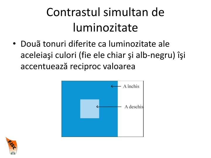 Contrastul simultan de luminozitate