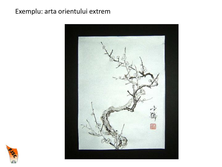 Exemplu: arta orientului extrem