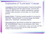 explanation of look back concept