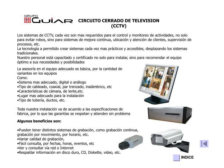CIRCUITO CERRADO DE TELEVISION (CCTV)