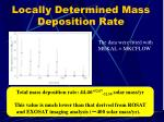 locally determined mass deposition rate