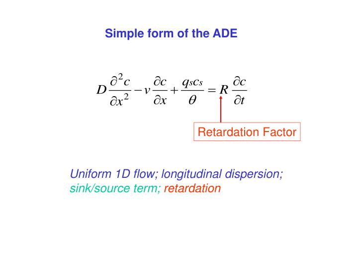Simple form of the ADE