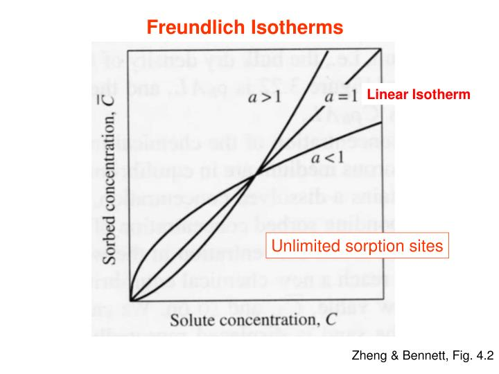 Freundlich Isotherms