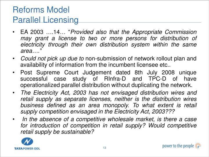 Reforms Model