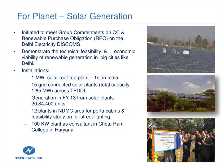 For Planet – Solar Generation
