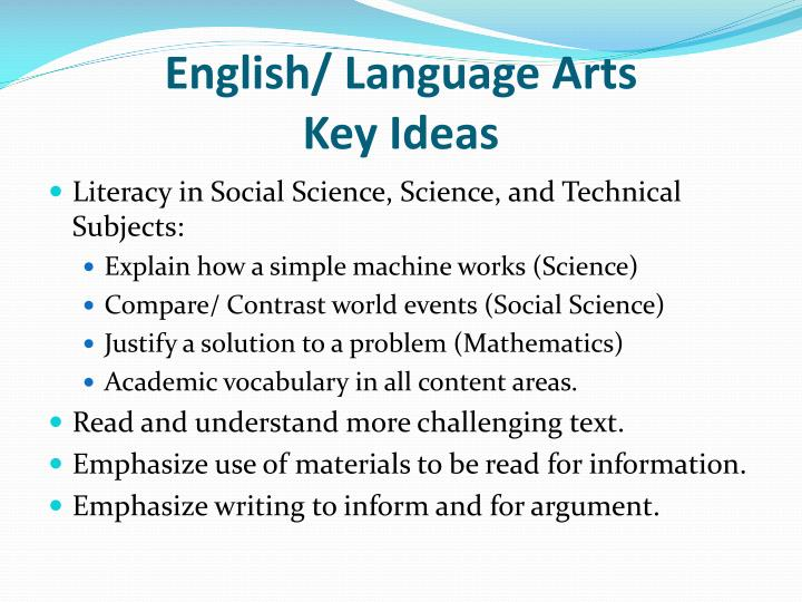 English/ Language Arts