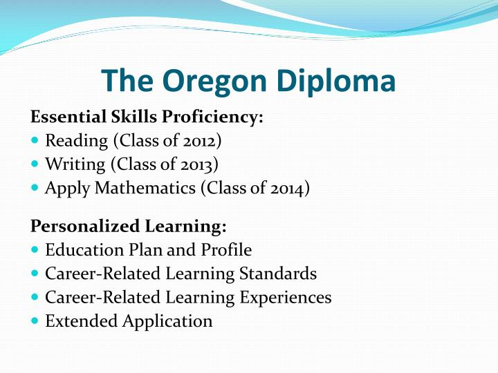The Oregon Diploma