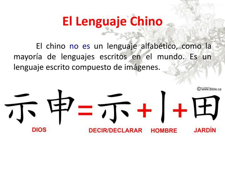 El Lenguaje Chino