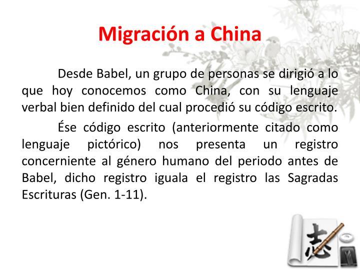 Migración a China