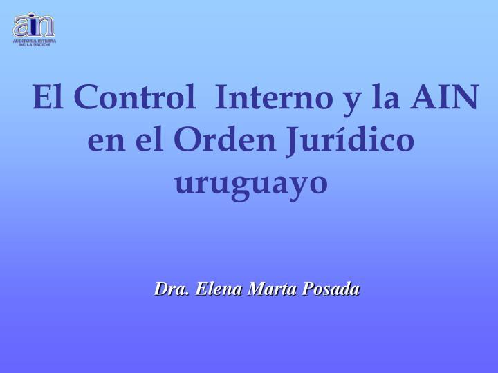 El Control  Interno y la AIN en el Orden Jurídico uruguayo