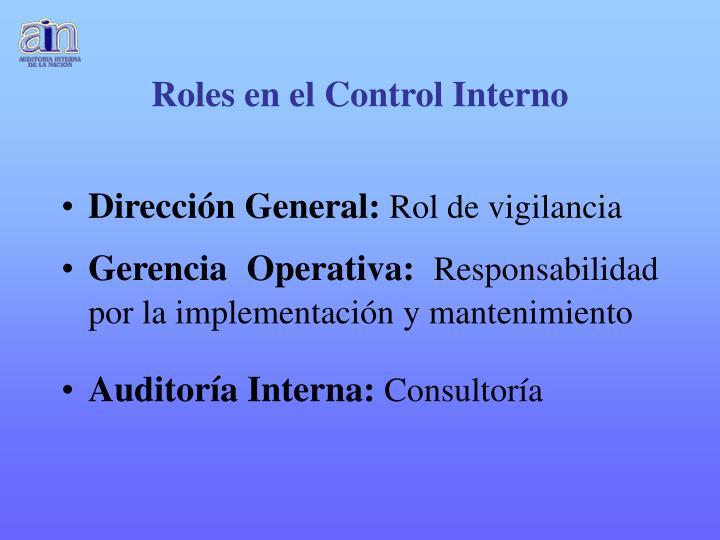 Roles en el Control Interno
