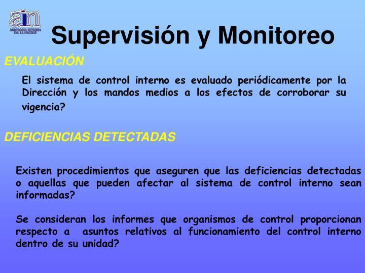 Supervisión y Monitoreo