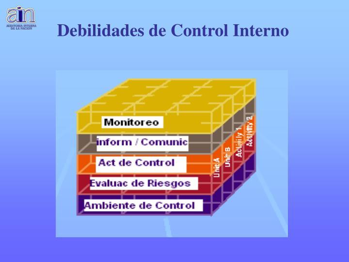 Debilidades de Control Interno