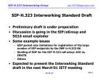 sip h 323 interworking standard draft