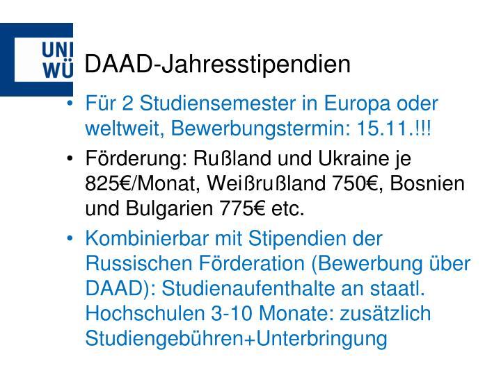 DAAD-Jahresstipendien