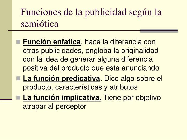 Funciones de la publicidad según la semiótica