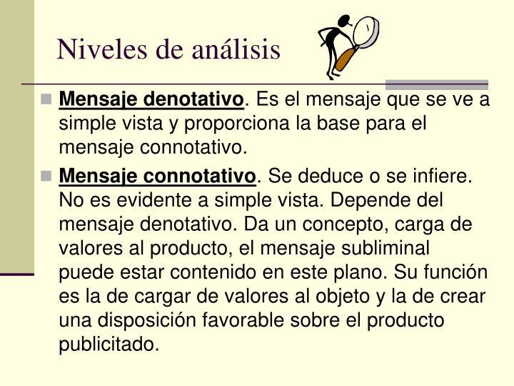 Niveles de análisis