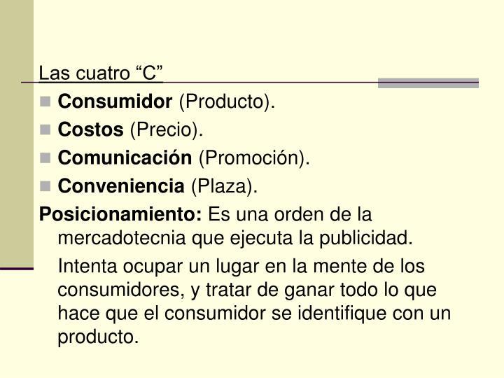 """Las cuatro """"C"""""""